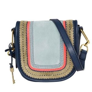 Fossil Rumi Crossbody Suede & Leather